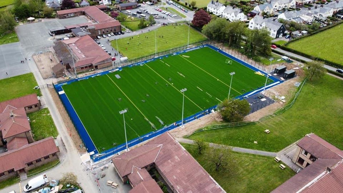 The new sports pitch