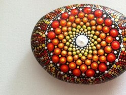 The cute painted rocks you find while out and about are getting a dotty makeover