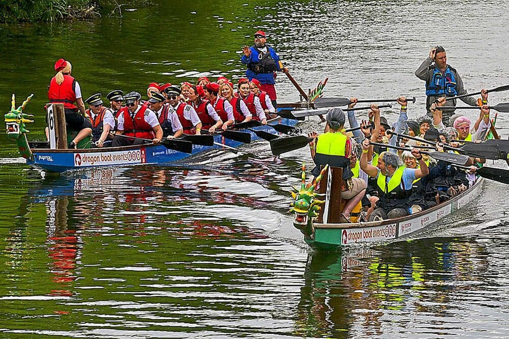 Shrewsbury's Dragon Boat Festival: Toucan Army pips reigning champs in photo-finish | Shropshire ...