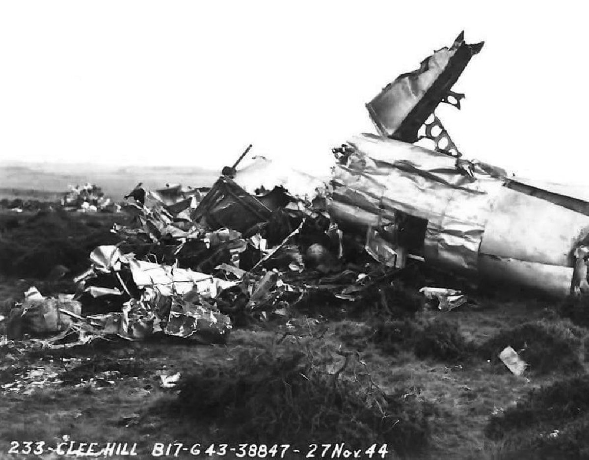The wreckage of the tragic bomber