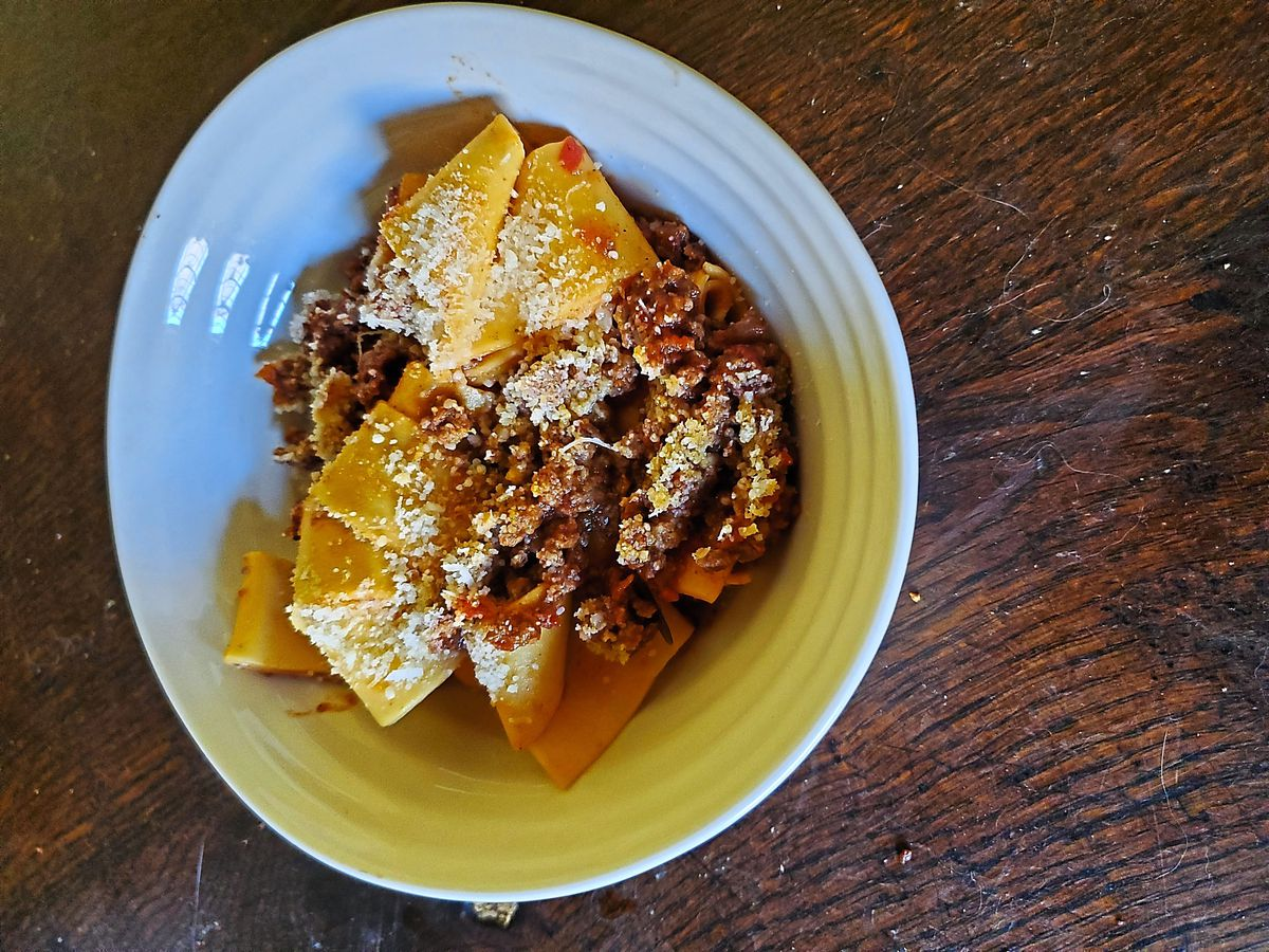 A delicious ragu was full of flavour