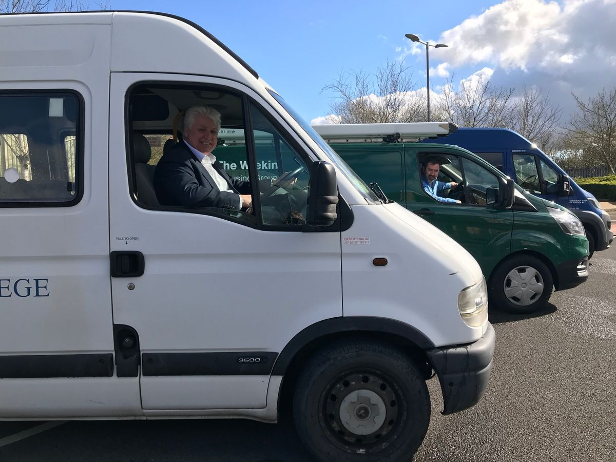 The mini buses that will now be used to help carers