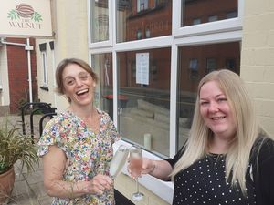 Karen Lee and Sian Ryan of The Walnut toast its awards success.