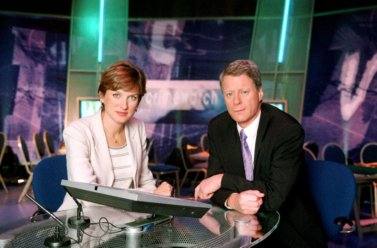 Fiona Bruce and Nick Ross fronting the programme