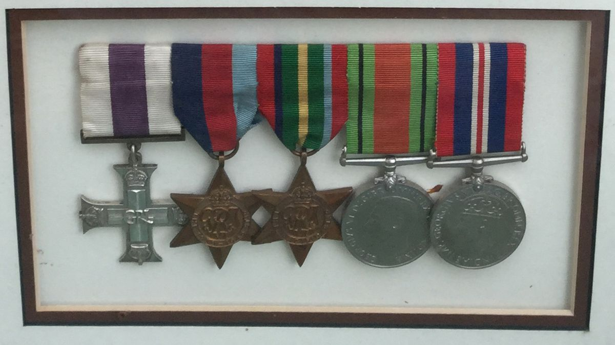 Howard Bretherton's medals, including the Military Cross on the left