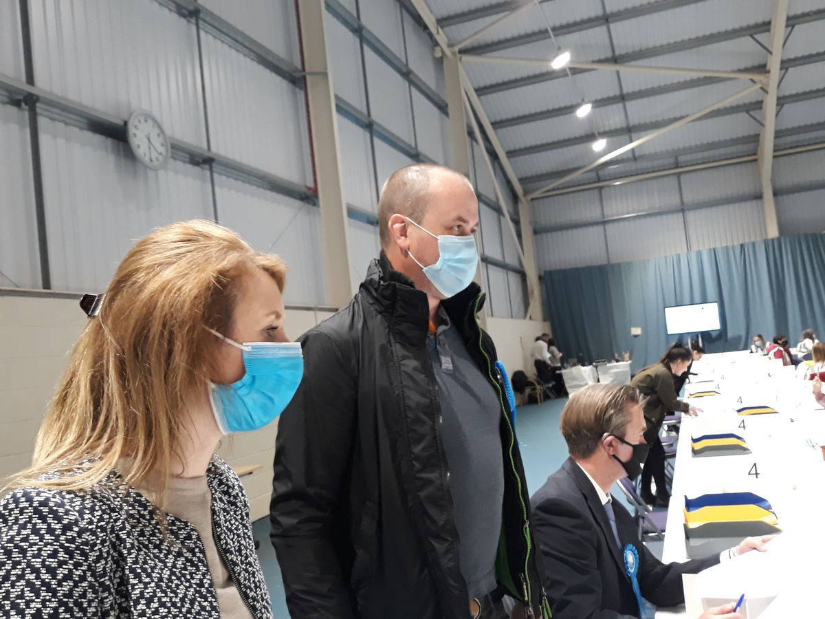 Jay Gough (Left) With Wrekin Conservative Chairman Emma Thomas