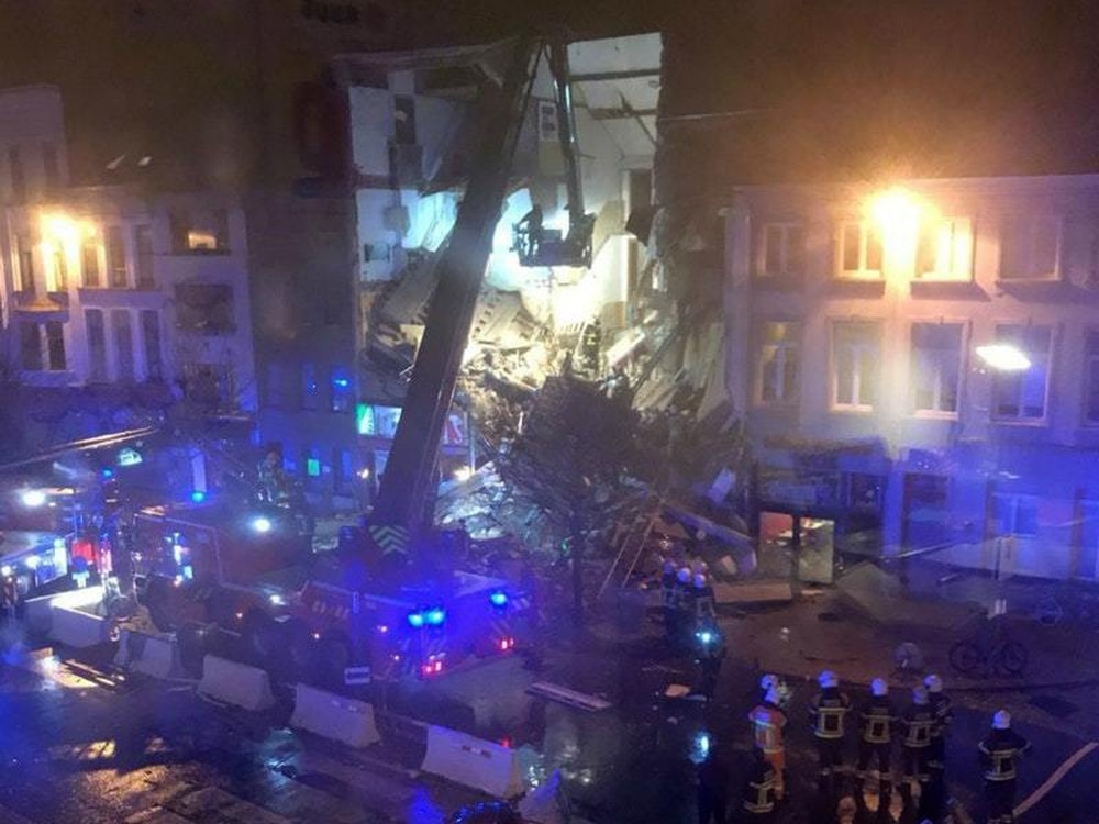 People trapped after buildings collapsed following huge explosion in Belgium