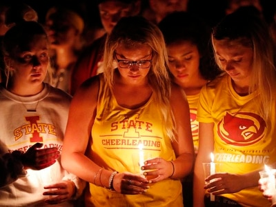 Vigil honours star golfer who was killed in Iowa