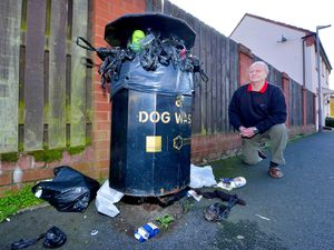 Resident Mike Davies says he is fed up with the bins not being emptied