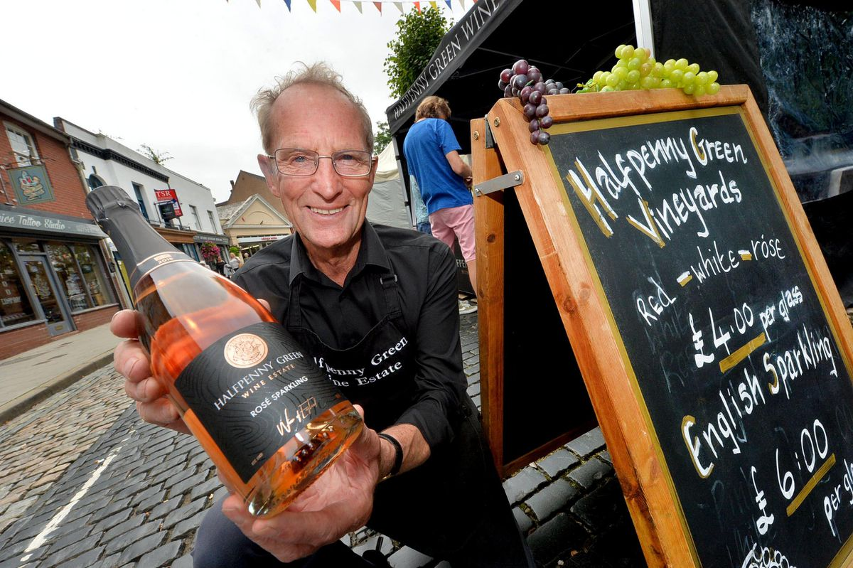 Martin Vickers from Halfpenny Green Vineyards at Newport Food Frenzy