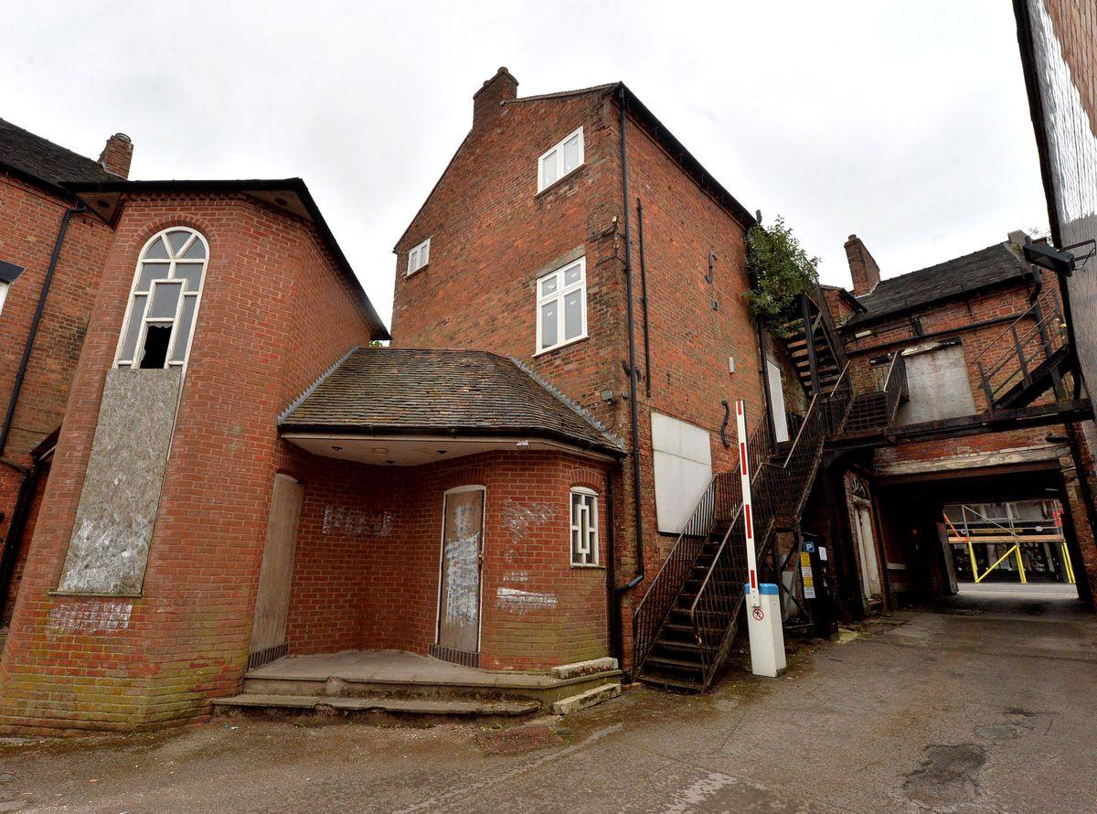The rear of the Corbet Arms Inn
