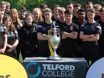 Champion day for students as Wolves takes trophy to Telford College