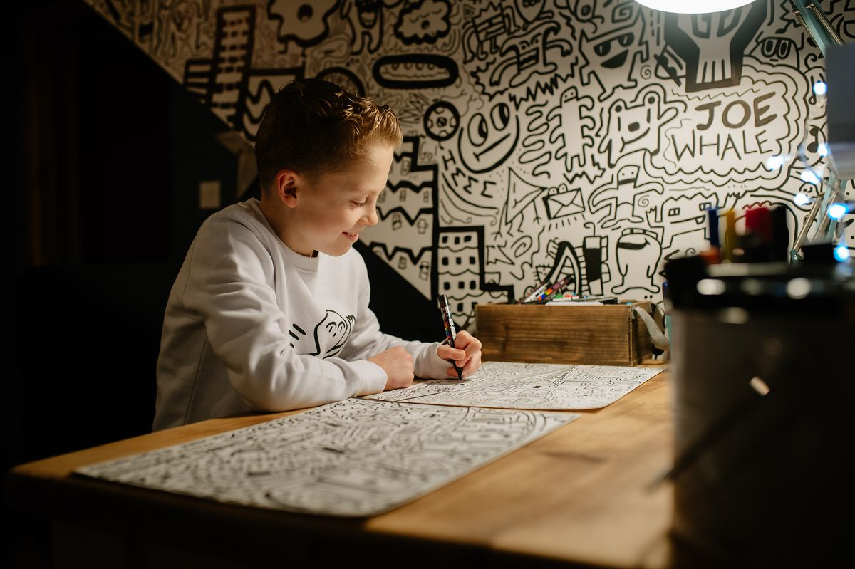 Doodle Boy, Joe Whale of Shrewsbury, was commissioned to create two works of art for Prince William and Kate's Royal Train Tour last year