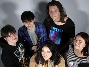 Liam Walton, Josh Keay, Gemma Tucker, Cameron Carter and Amber Hayden