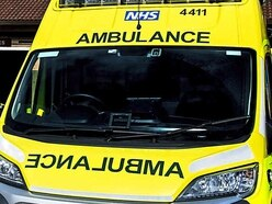 Person taken to hospital after crash at Gledrid roundabout