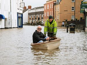 Shrewsbury was engulfed with water from the Severn in February, the latest in a long list of floods through the history of the town