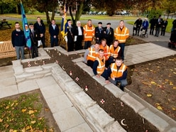 Handover after Oakengates poppy cross revamp