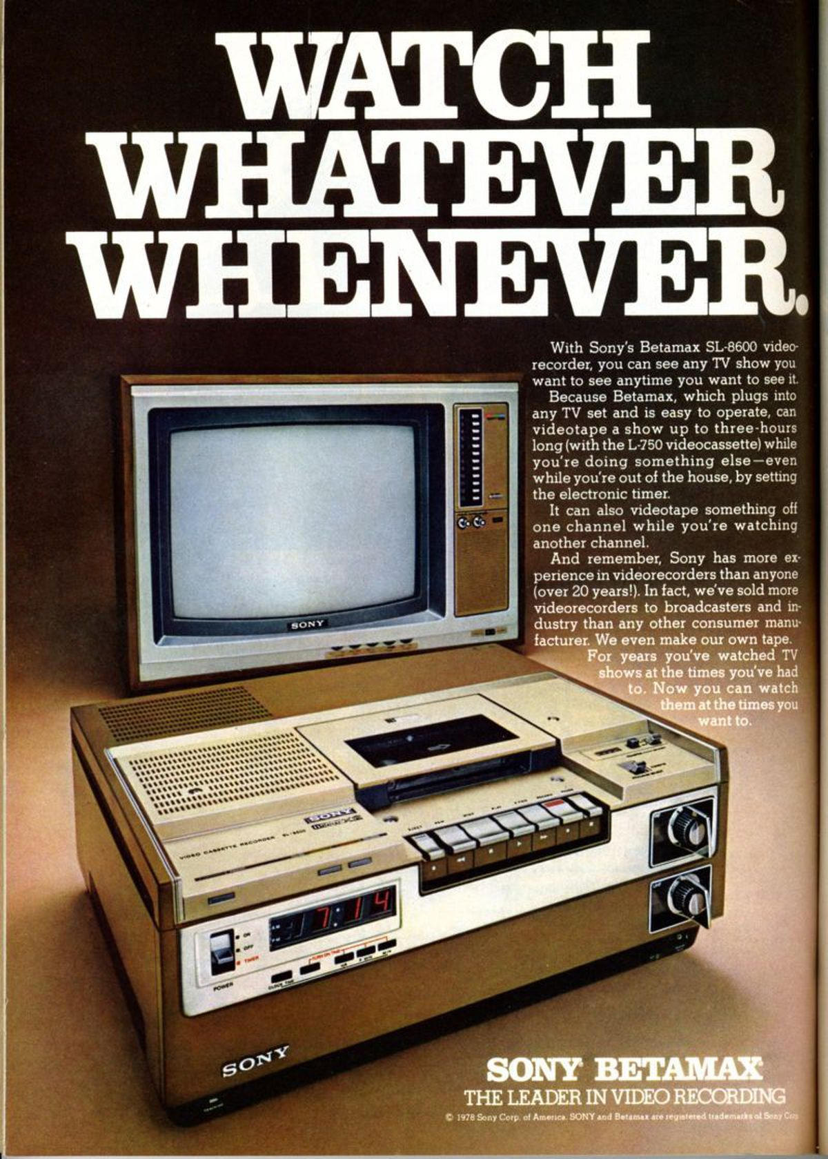 Some people are still getting to grips with the Sony Betamax