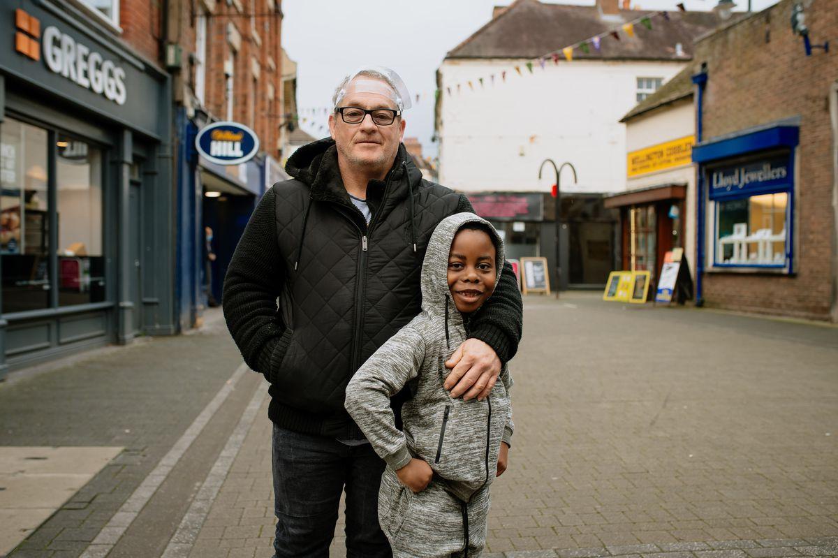 Iain and six-year-old Roddy McDowall in Wellington