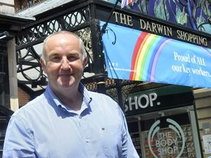 Kevin Lockwood, Shrewsbury shopping centres manager, says the colouring wall is an exciting addition to the centre