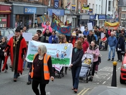 500 march in protest over plans to move Welshpool library - with video and pictures