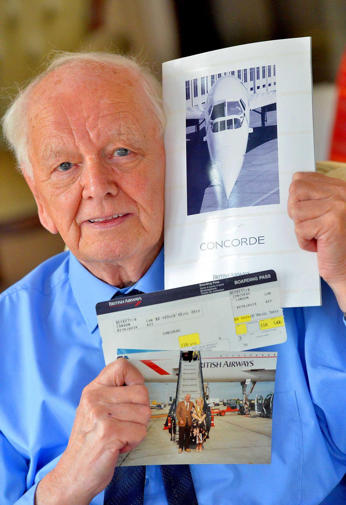 Alan recalls his flight on Concorde in 1996