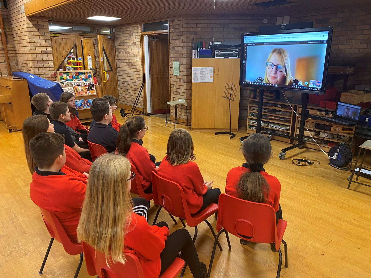 Pupils at Llanfair Caereinion