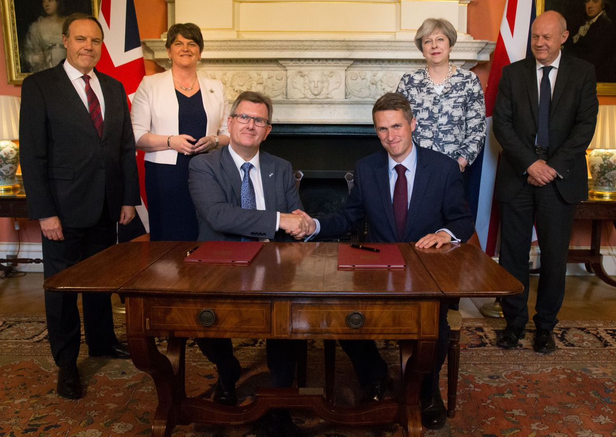 The DUP agreed a deal to support the minority Conservative government