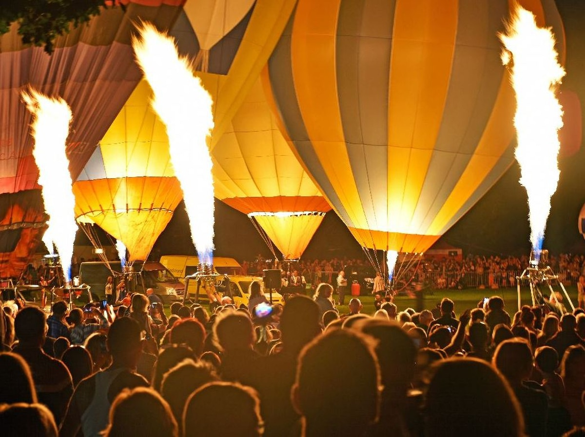 Balloons take to the skies during event