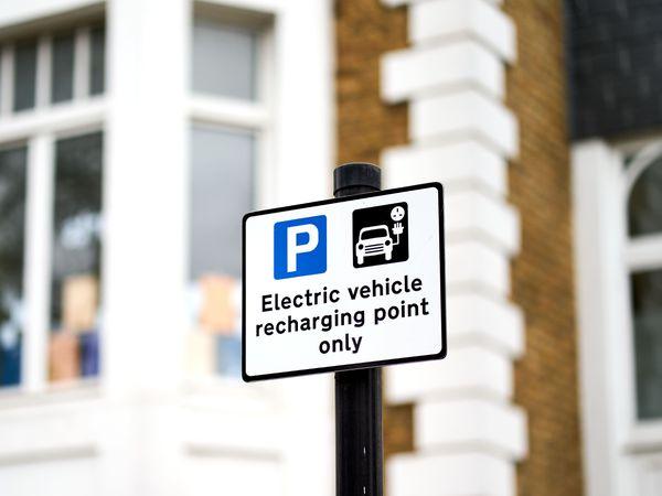 Electric car charging signage