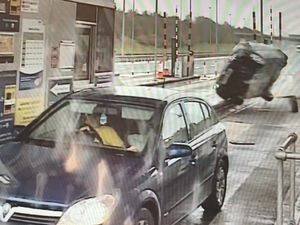 The moment the crash happened on the M6 Toll in Staffordshire