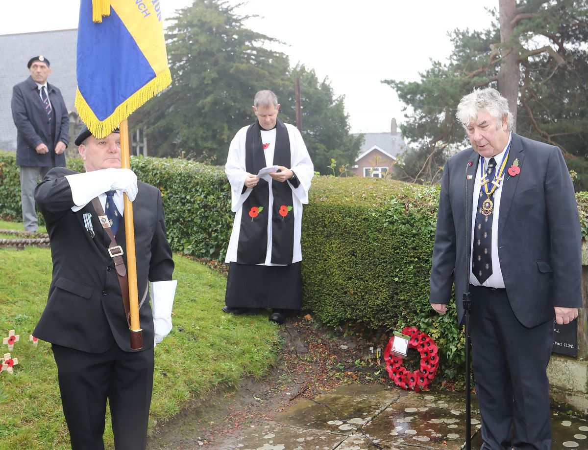 Remembrance Sunday in Welshpool