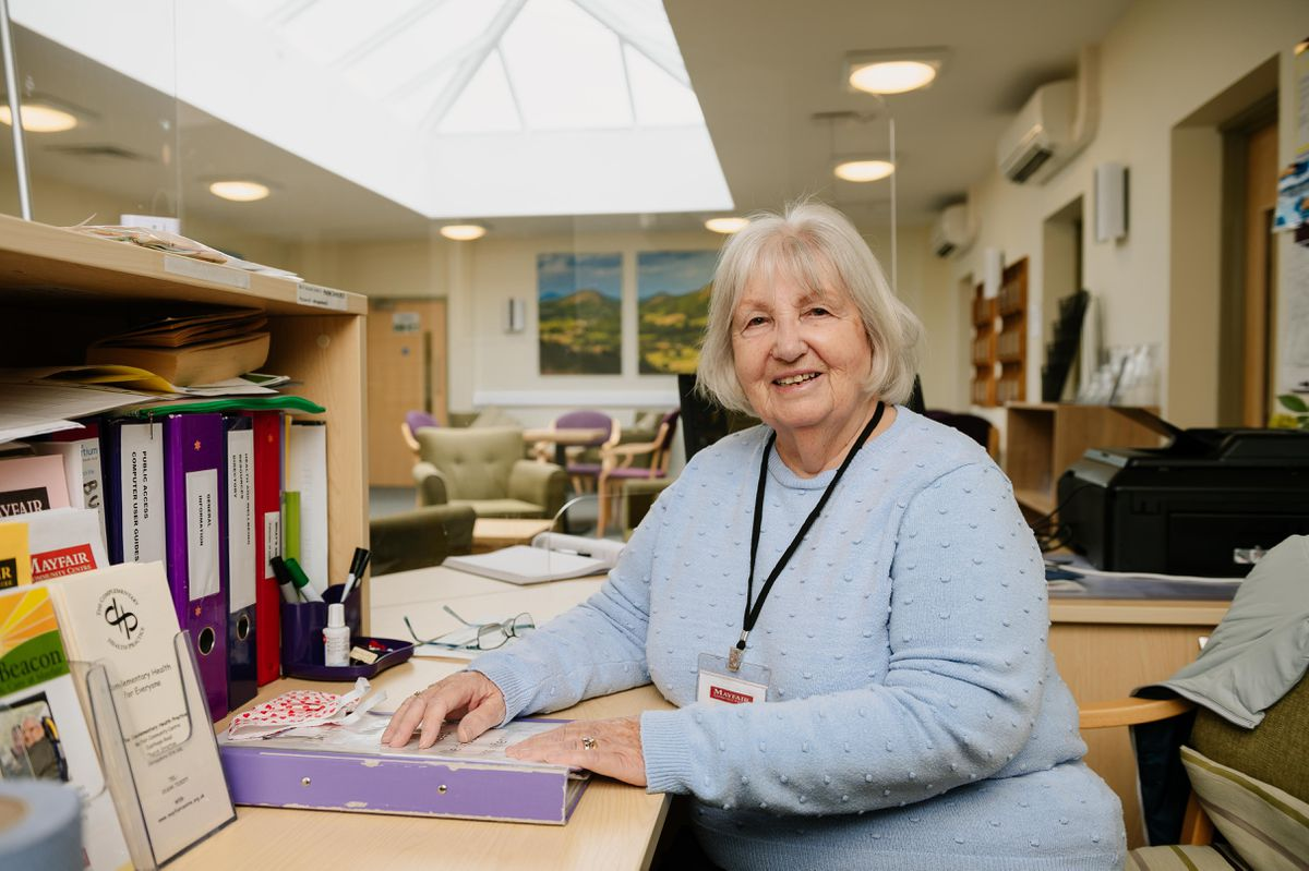Jacquie Pearson - volunteer at the Health and Wellbeing Centre at Mayfair