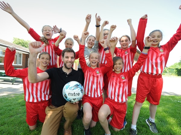 Girls ride high in football competition