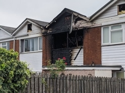 Woman rescued as fire tears through Shrewsbury house
