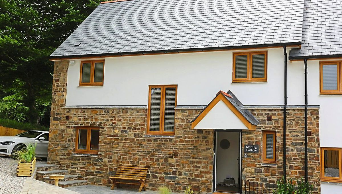 Cosy cottage – the accommodation at Stowford Farm Meadows is quaint and luxurious