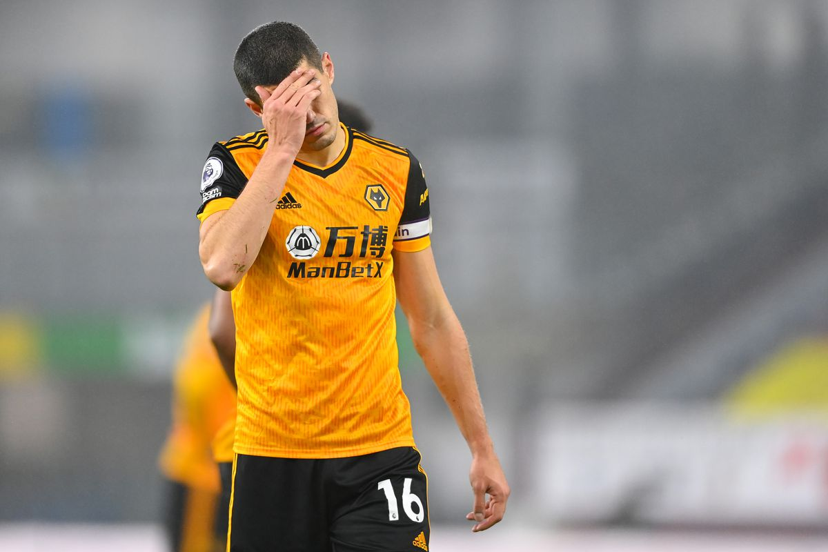 A dejected Conor Coady of Wolverhampton Wanderers (AMA)