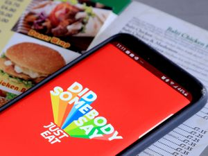 The Just Eat app on a smartphone