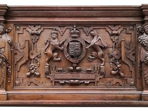 The Elizabethan overmantle which is being put up for auction