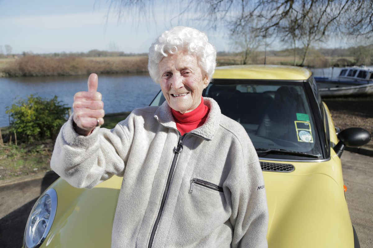 Eileen Ash passed her driving test at the age of 105