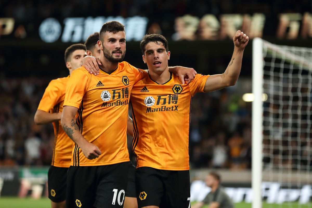 Pedro Neto of Wolverhampton Wanderers celebrates after scoring a goal to make it 1-0 (AMA)