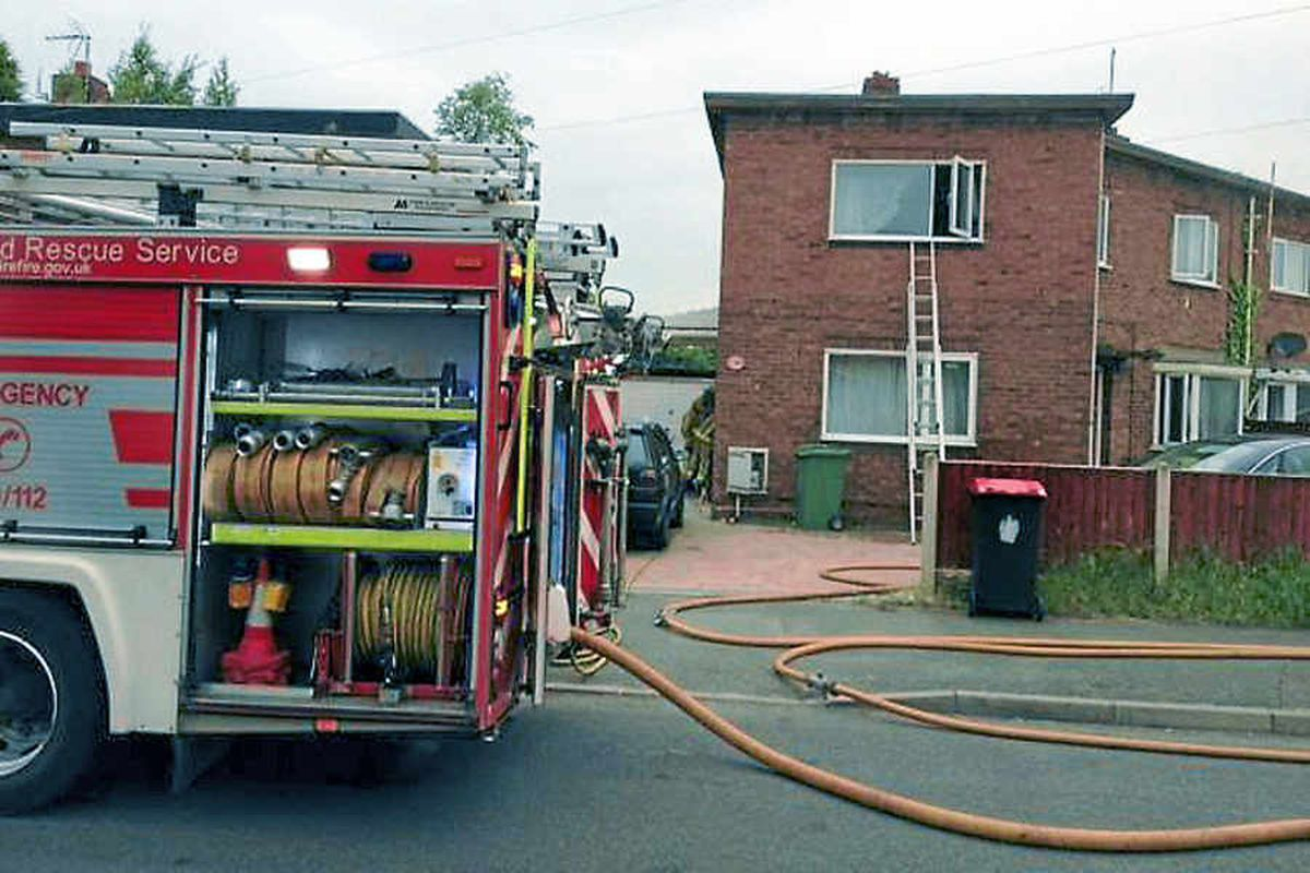 The scene of the fire in Donnington