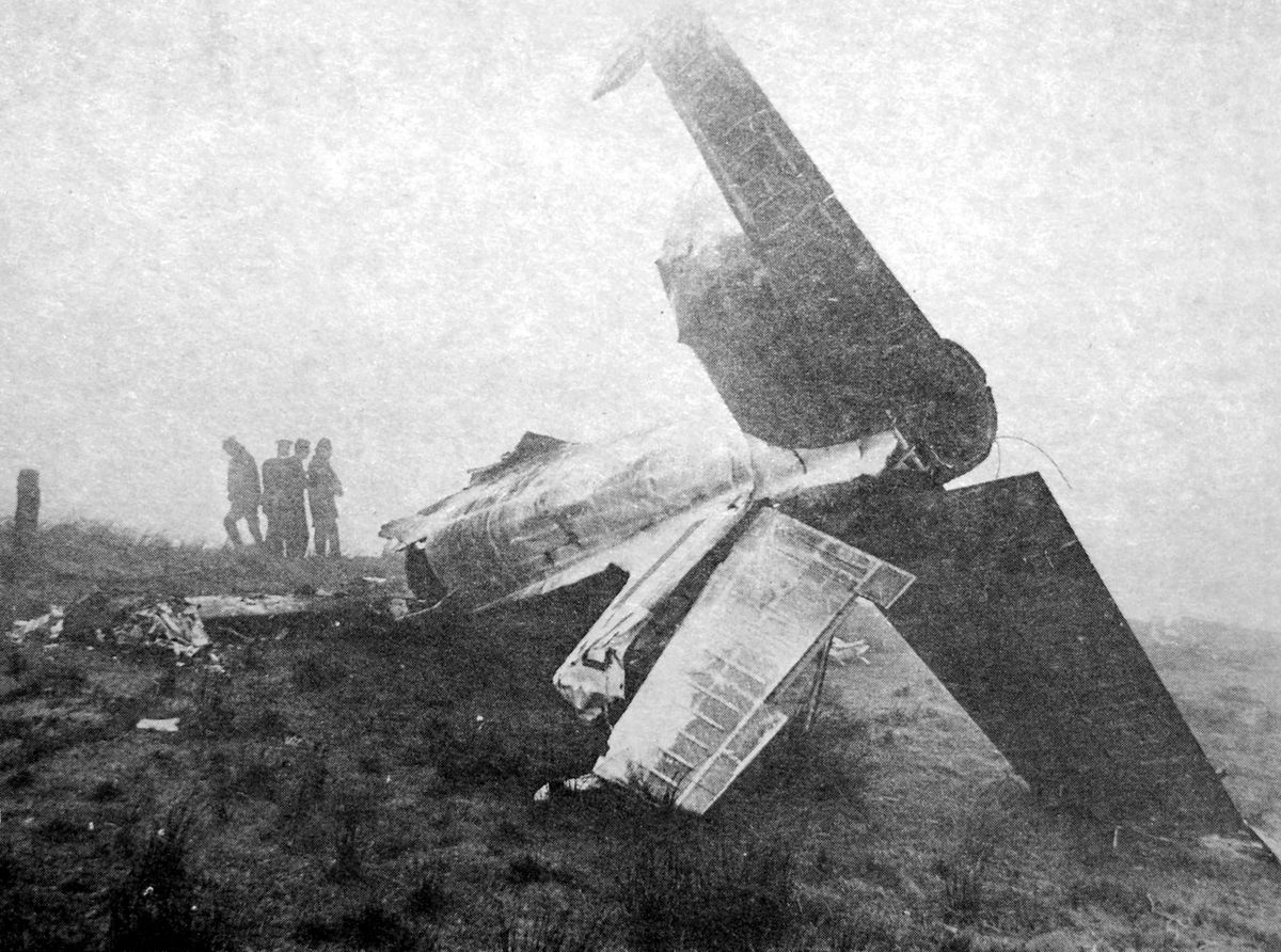This Jet Provost crashed on January 24, 1969.