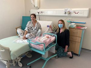 Transformation Project Midwife, Rachel Clorley, with new mum Hannah Brown and baby Freya