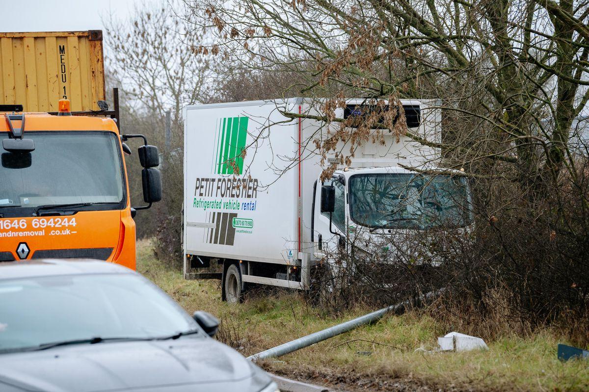 Crash at Whittington Roundabout in Oswestry