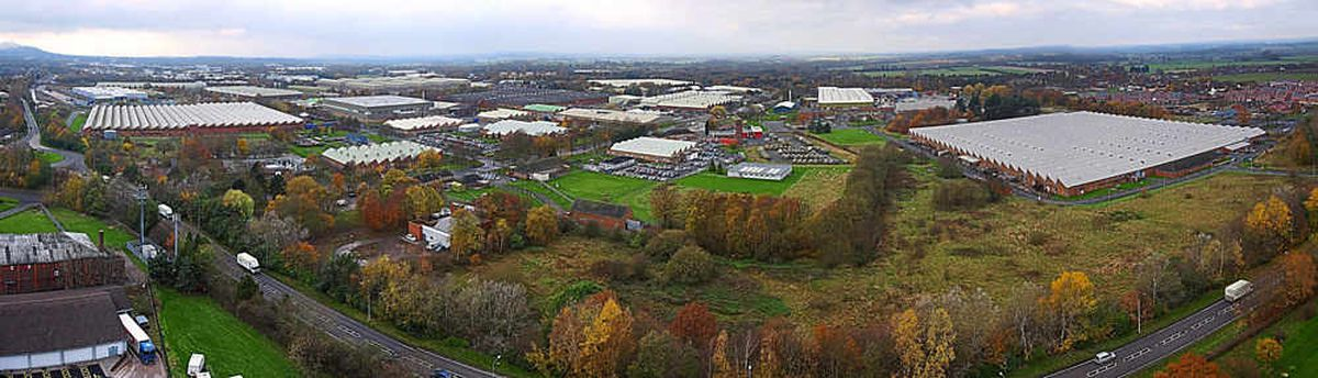 An aerial view of MoD Donnington