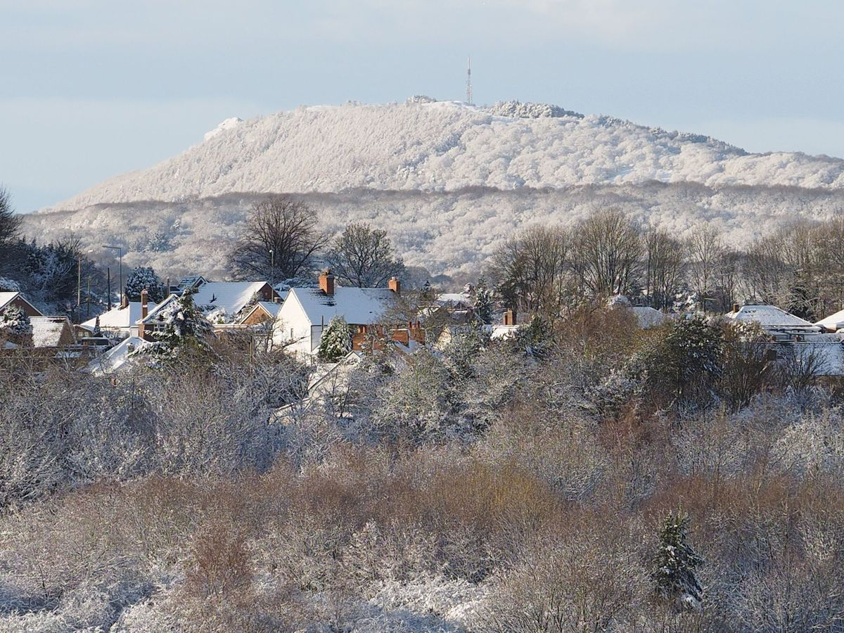 The Wrekin covered in snow. Photo: Jan Bell.
