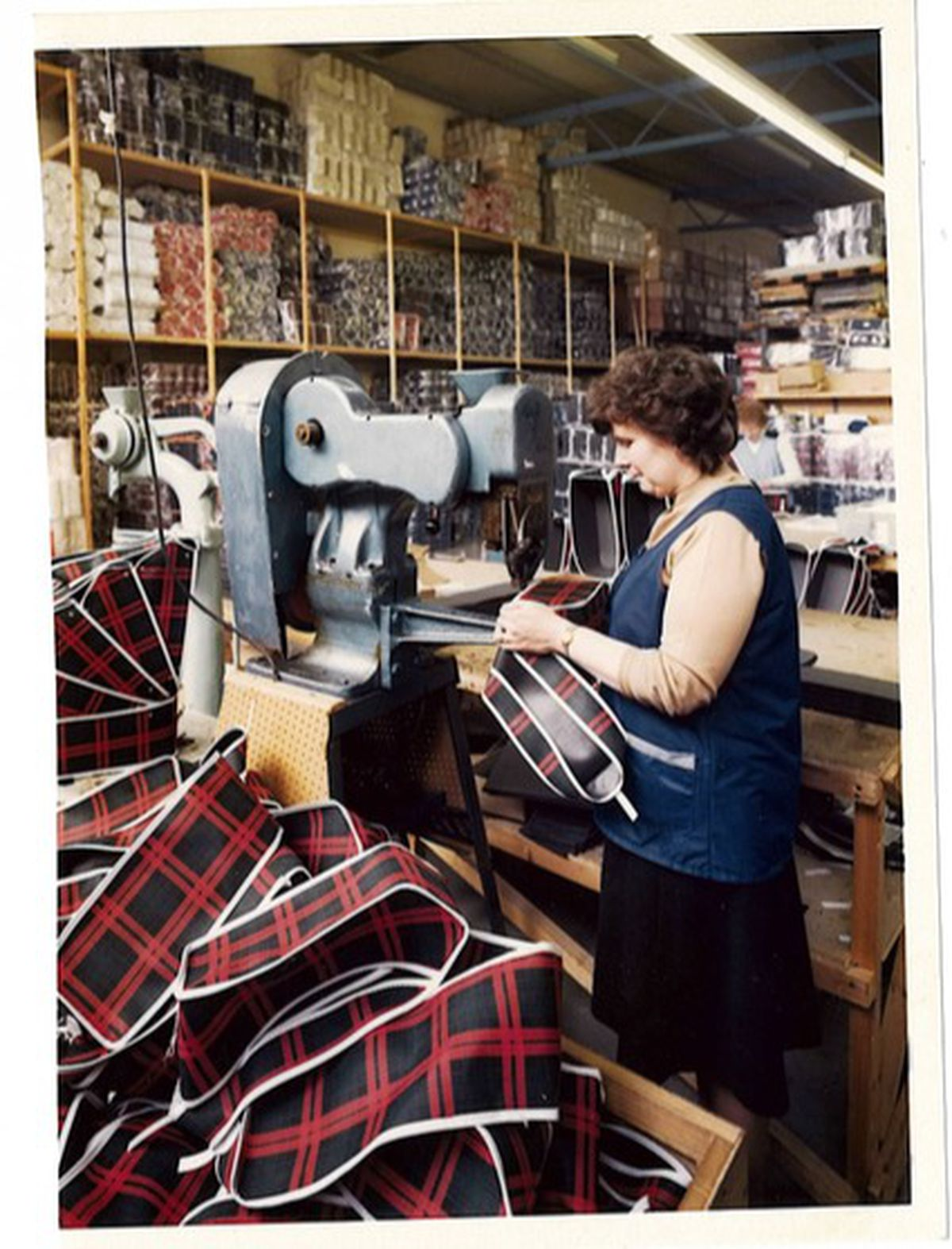 Cycle bags being produced circa 1985
