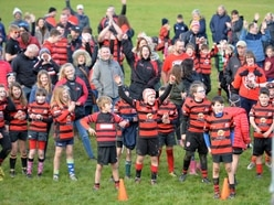 More than 1,000 young rugby players attempt world record in Oswestry - in pictures