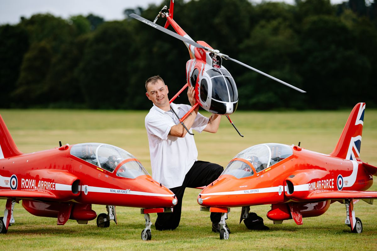 Rob Nason from Wrekin Model Flying Club at the International Model Airshow at Weston Park